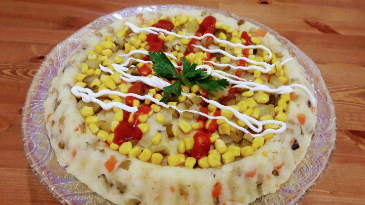 Kumpir Nasıl Yapılır- Tart Kalıbında Patates Salatası